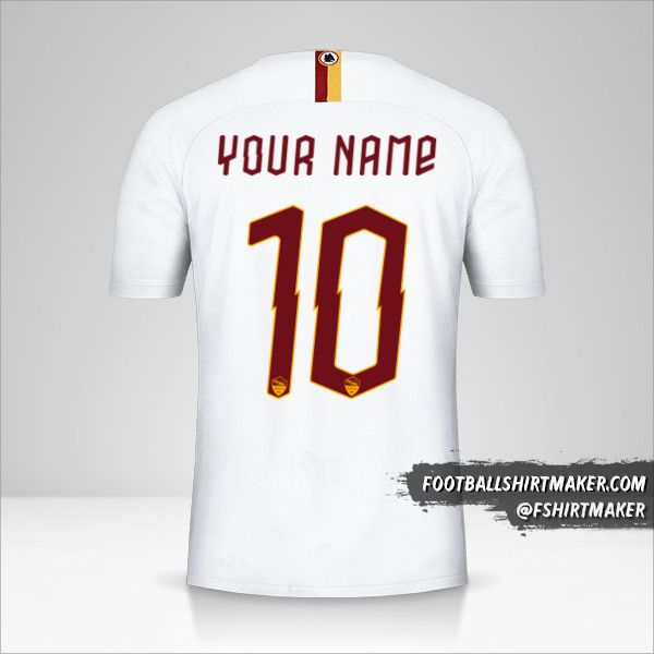 AS Roma 2019/20 Cup II jersey number 10 your name