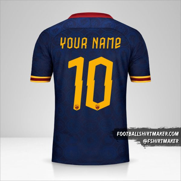 AS Roma 2019/20 Cup III jersey number 10 your name