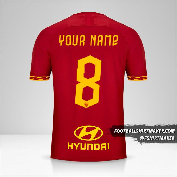 AS Roma jersey 2019/20 number 8 your name