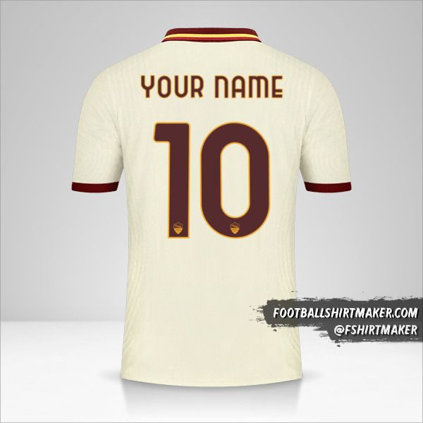 AS Roma 2020/21 Cup II jersey number 10 your name