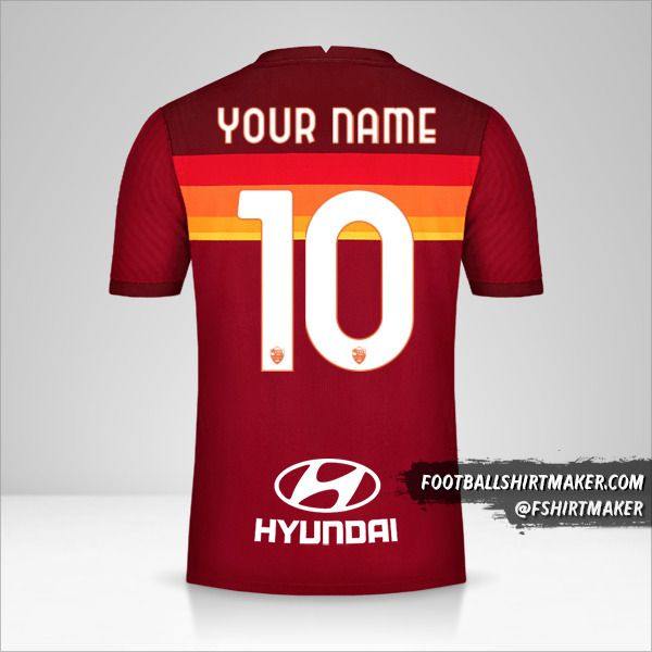 AS Roma 2020/21 jersey number 10 your name