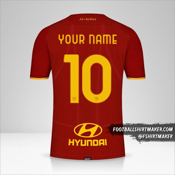 AS Roma 2021/2022 jersey number 10 your name