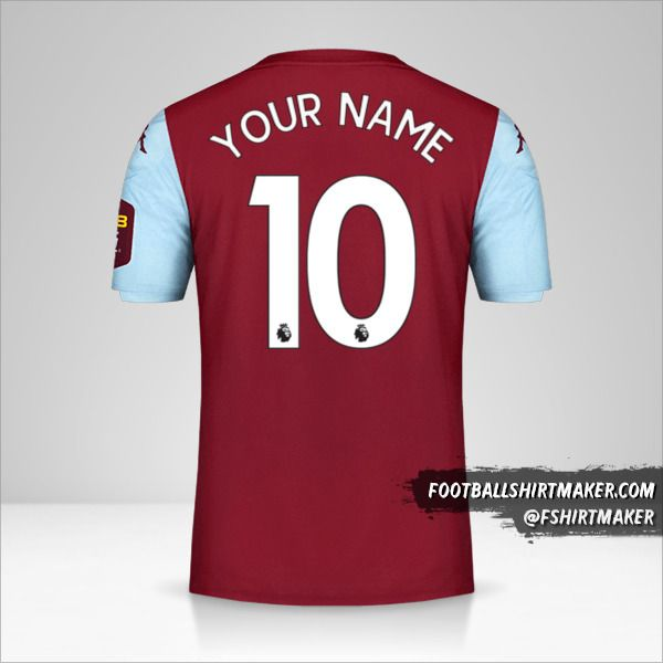 Aston Villa FC 2019/20 jersey number 10 your name