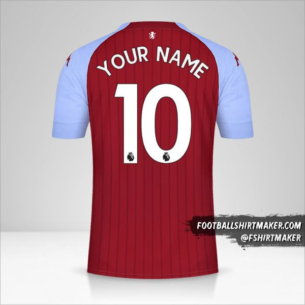 Aston Villa FC 2020/21 jersey number 10 your name