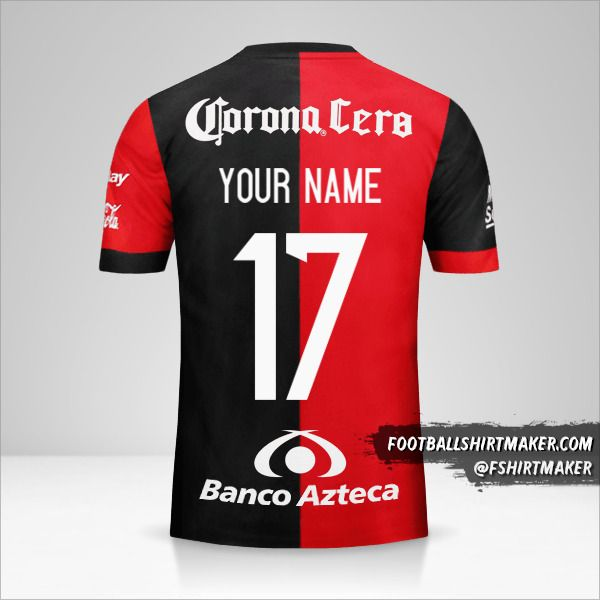 Atlas 2017/18 jersey number 17 your name