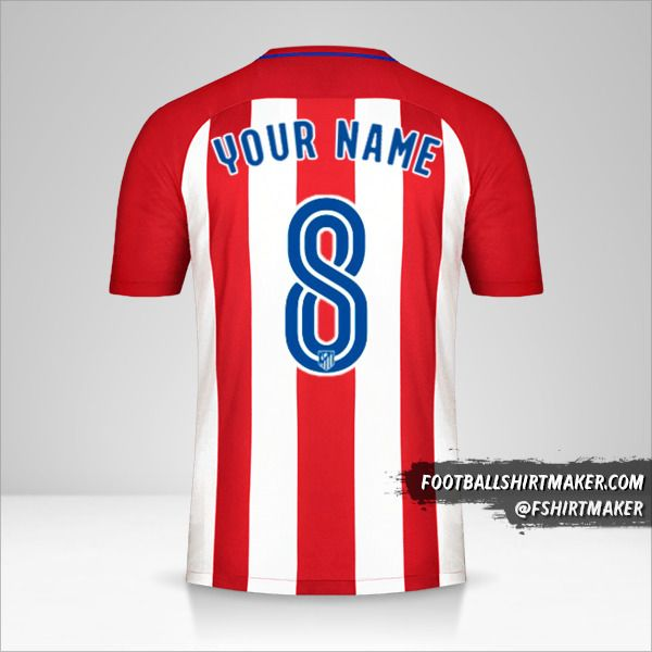 Atletico Madrid 2016/17 jersey number 8 your name