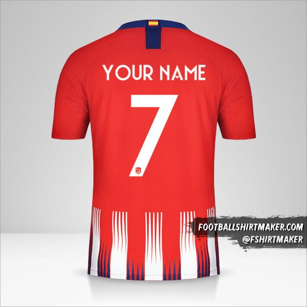 Atletico Madrid 2018/19 Cup jersey number 7 your name