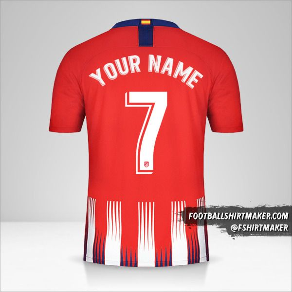 Atletico Madrid 2018/19 jersey number 7 your name