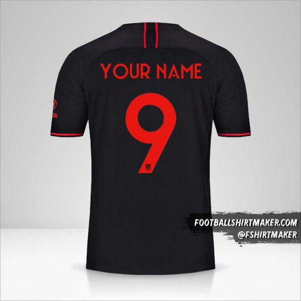 Atletico Madrid 2019/20 Cup II jersey number 9 your name