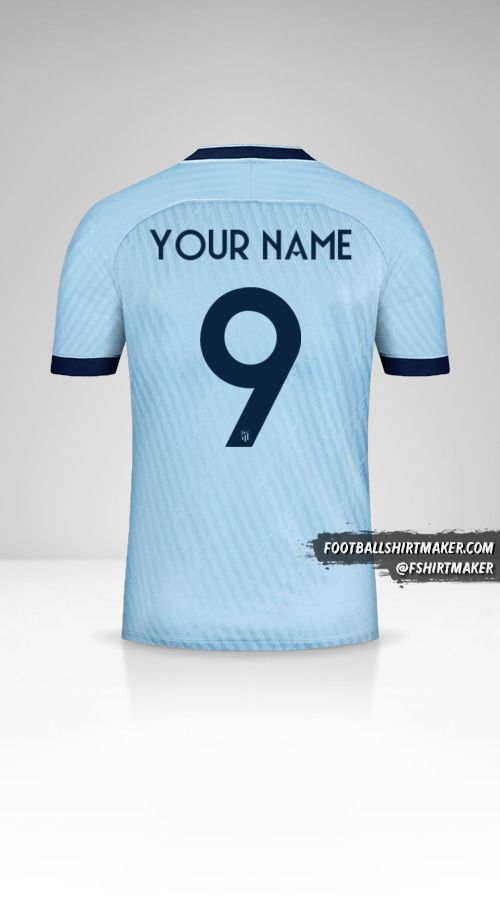 Atletico Madrid 2019/20 Cup III jersey number 9 your name