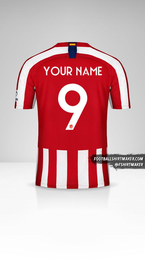 Atletico Madrid 2019/20 Cup jersey number 9 your name