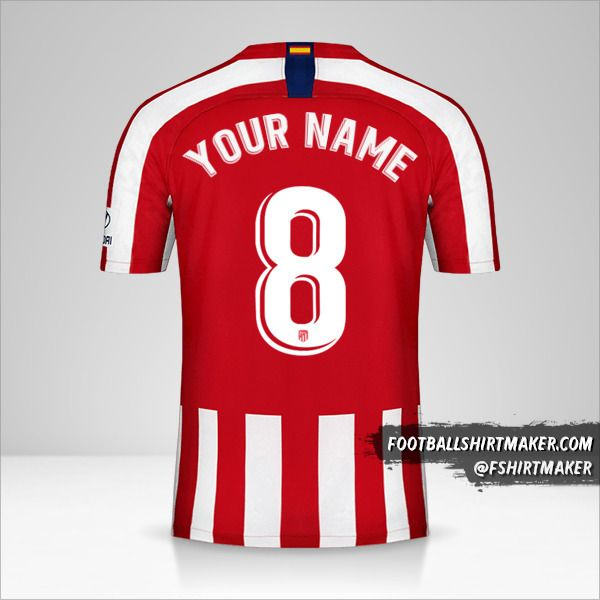Atletico Madrid jersey 2019/20 number 8 your name
