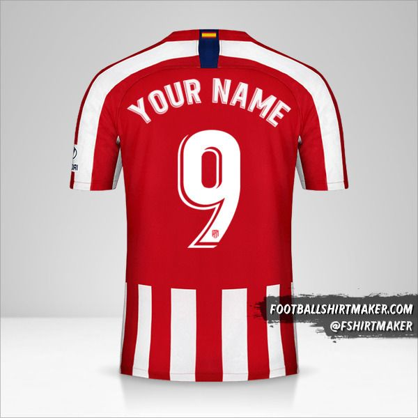 Atletico Madrid jersey 2019/20 number 9 your name