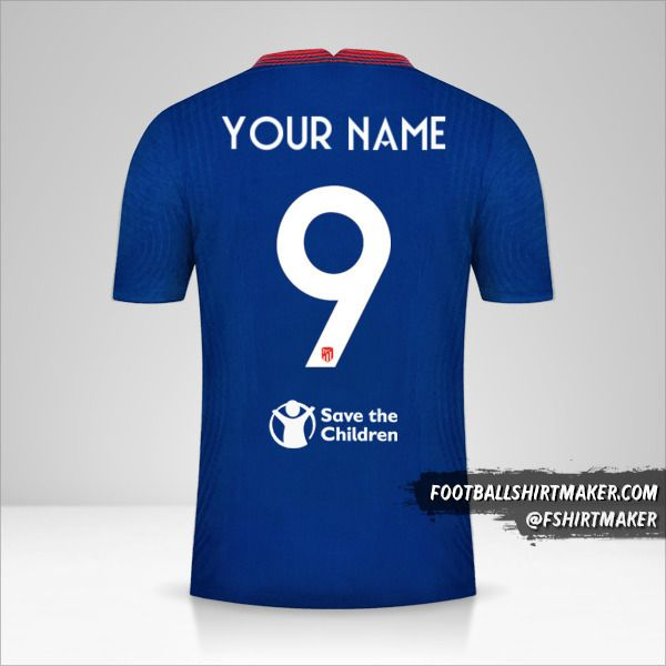 Atletico Madrid 2020/21 Cup II jersey number 9 your name