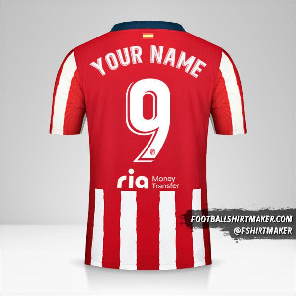 Atletico Madrid 2020/21 jersey number 9 your name