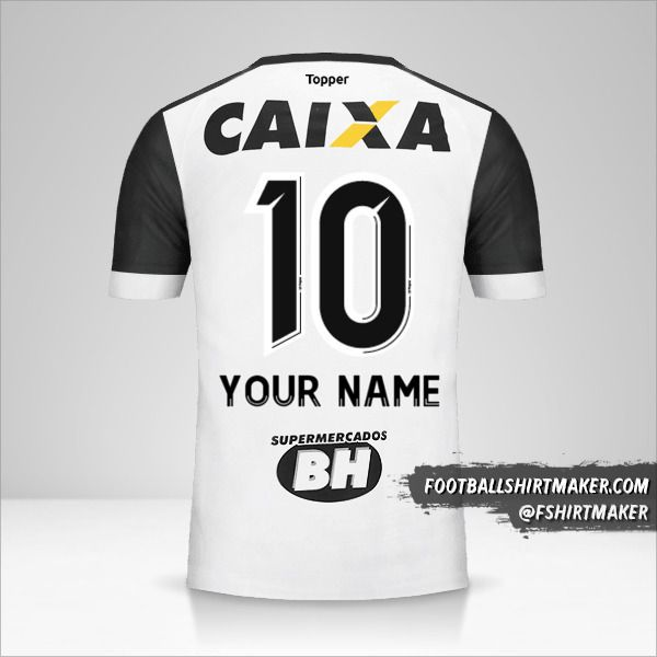 Atletico Mineiro 2017 II jersey number 10 your name