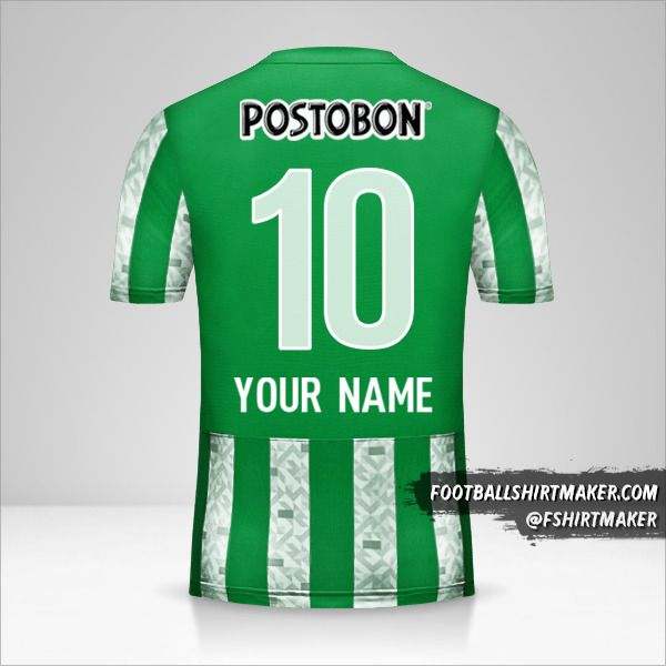 Atletico Nacional 2014 jersey number 10 your name
