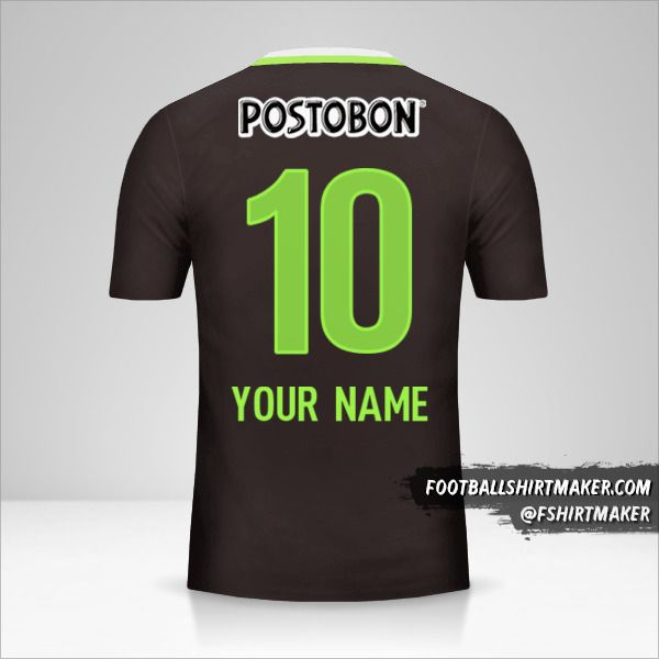 Atletico Nacional 2016 II jersey number 10 your name