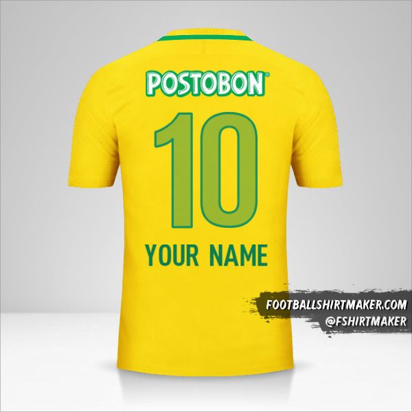 Atletico Nacional 2017 II jersey number 10 your name