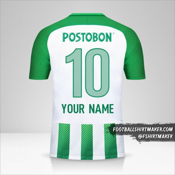 Atletico Nacional 2018 jersey number 10 your name