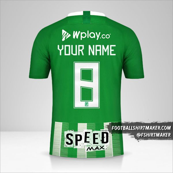 Atletico Nacional jersey 2019 number 8 your name