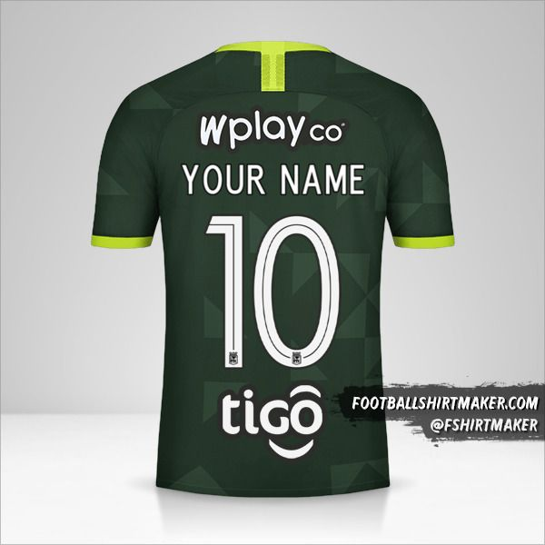 Atletico Nacional 2020 II jersey number 10 your name