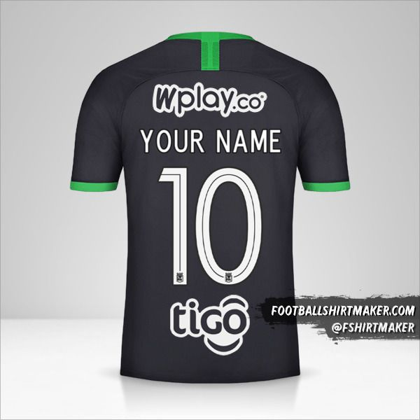 Atletico Nacional 2020 III jersey number 10 your name
