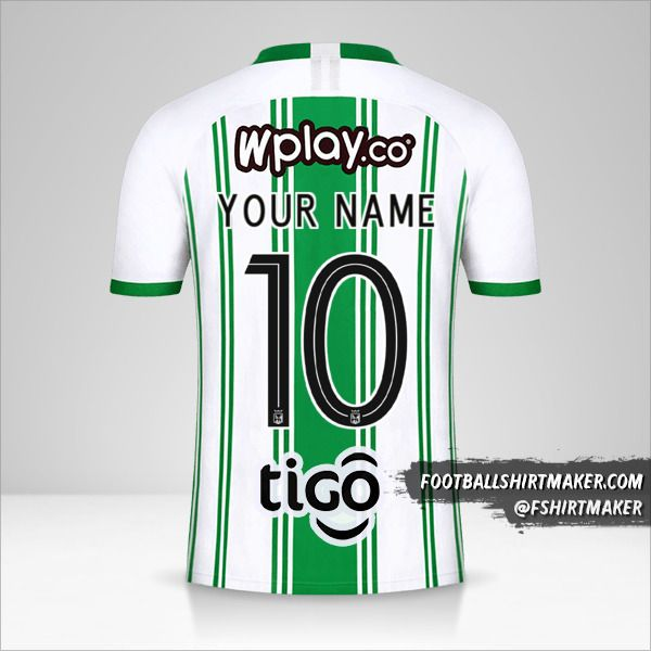 Atletico Nacional jersey 2020 number 10 your name