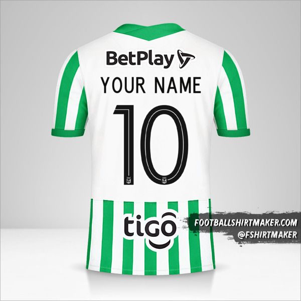 Atletico Nacional 2021 jersey number 10 your name
