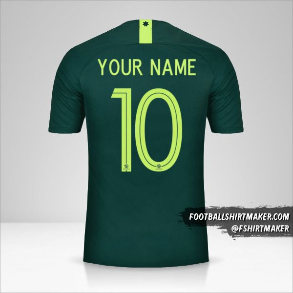 Australia 2018 II jersey number 10 your name
