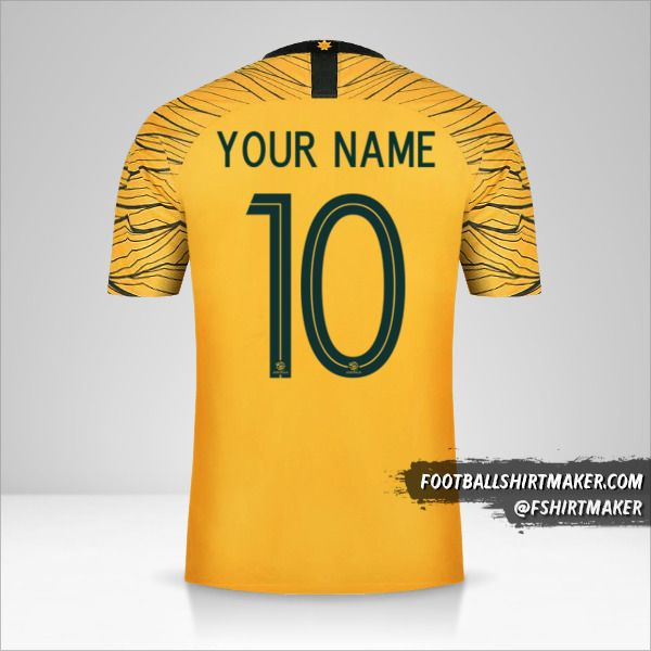 Australia 2018 jersey number 10 your name