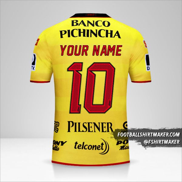 Barcelona SC 2017 jersey number 10 your name