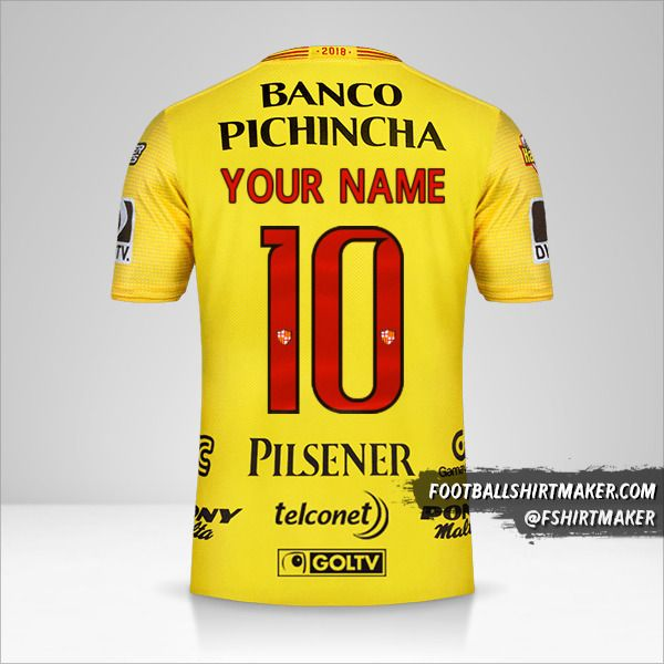 Barcelona SC 2018 jersey number 10 your name