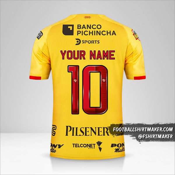 Barcelona SC 2019 jersey number 10 your name