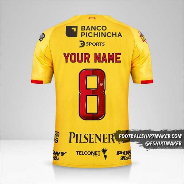 Barcelona SC jersey 2019 number 8 your name