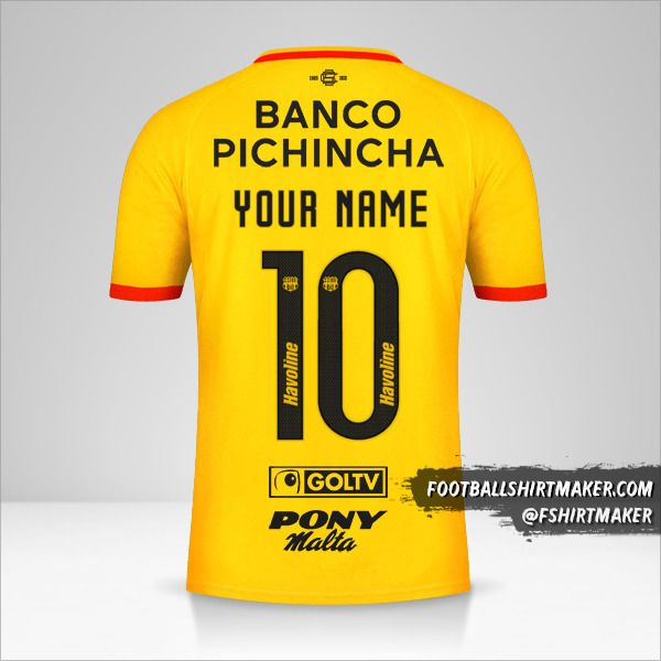 Barcelona SC 2021 jersey number 10 your name