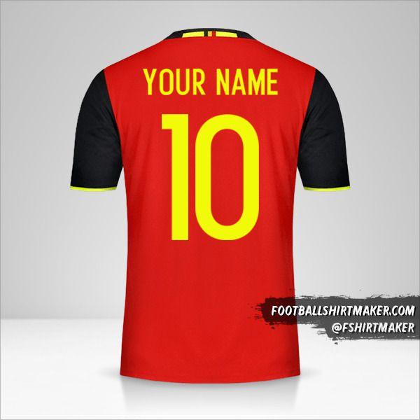 Belgium 2016 jersey number 10 your name