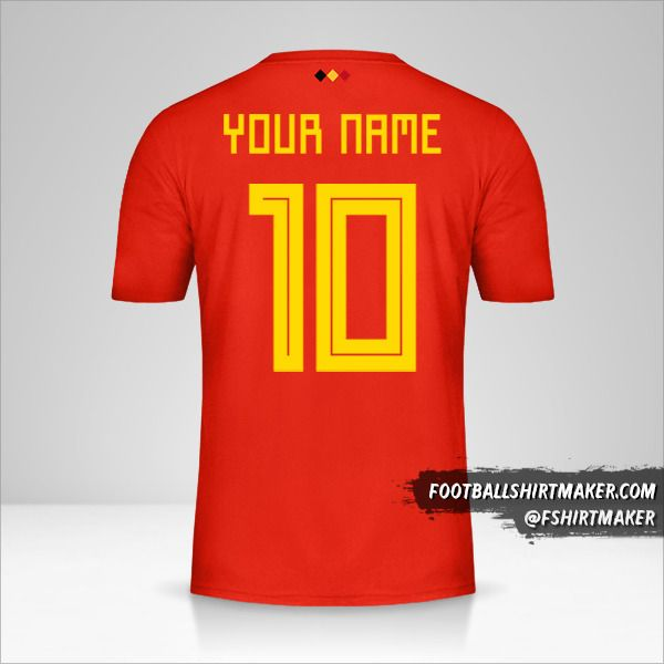 Belgium 2018 jersey number 10 your name