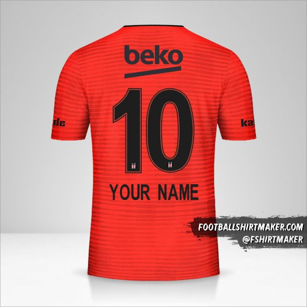 Besiktas JK 2018/19 III jersey number 10 your name