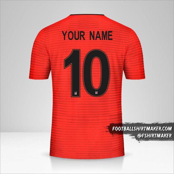 Besiktas JK 2018/19 Cup III jersey number 10 your name