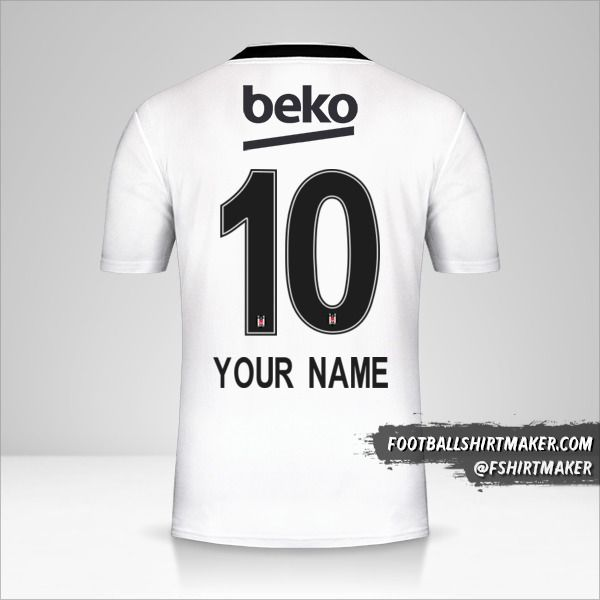 Besiktas JK jersey 2019/20 number 10 your name