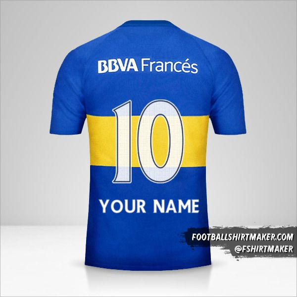 Boca Juniors 2016 jersey number 10 your name