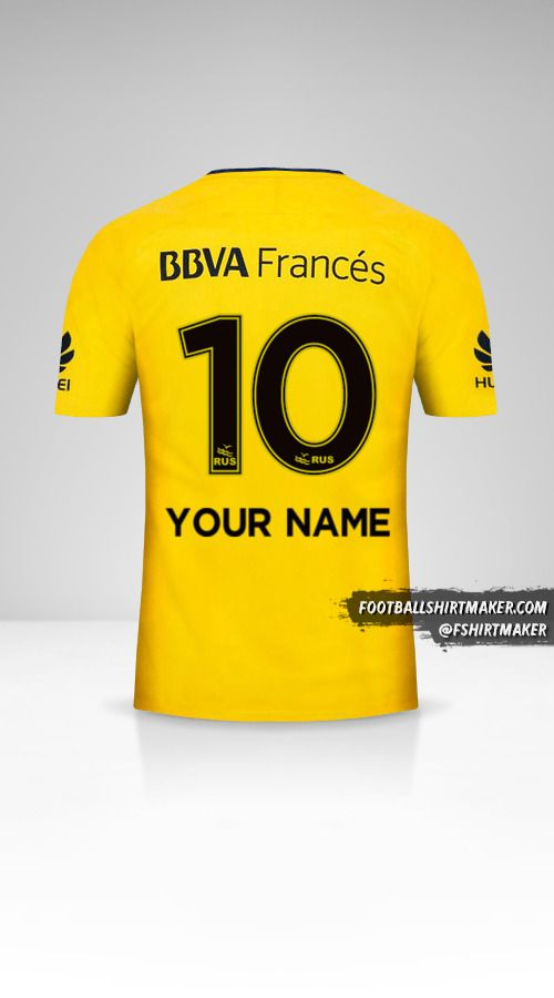 Boca Juniors 2017/18 II jersey number 10 your name