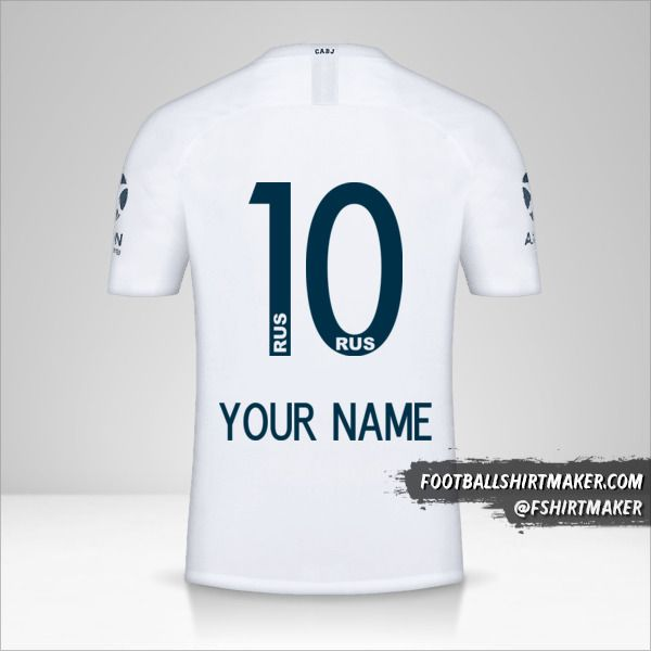 Boca Juniors 2018/19 II jersey number 10 your name