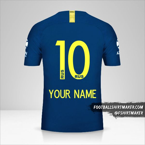 Boca Juniors 2018/19 jersey number 10 your name