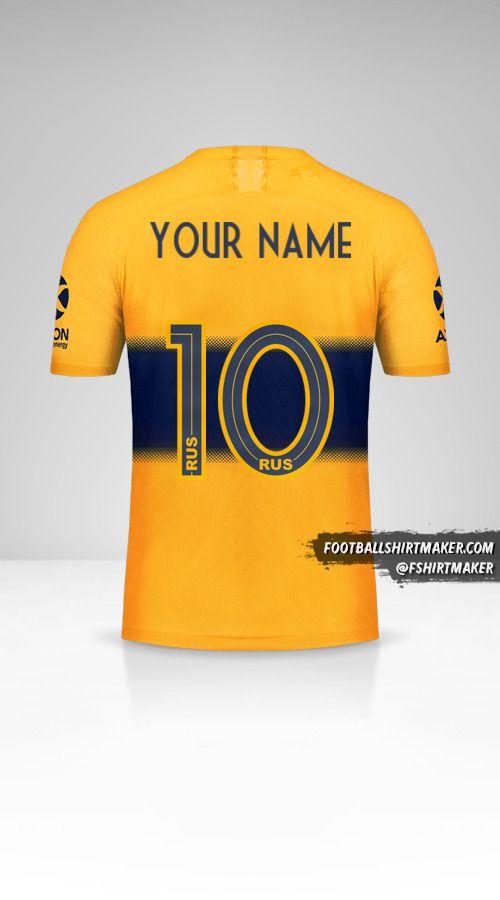 Boca Juniors 2019/20 II jersey number 10 your name