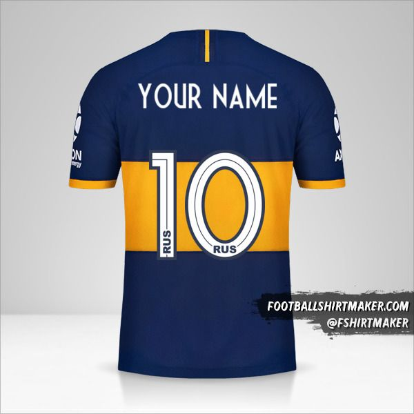Boca Juniors jersey 2019/20 number 10 your name