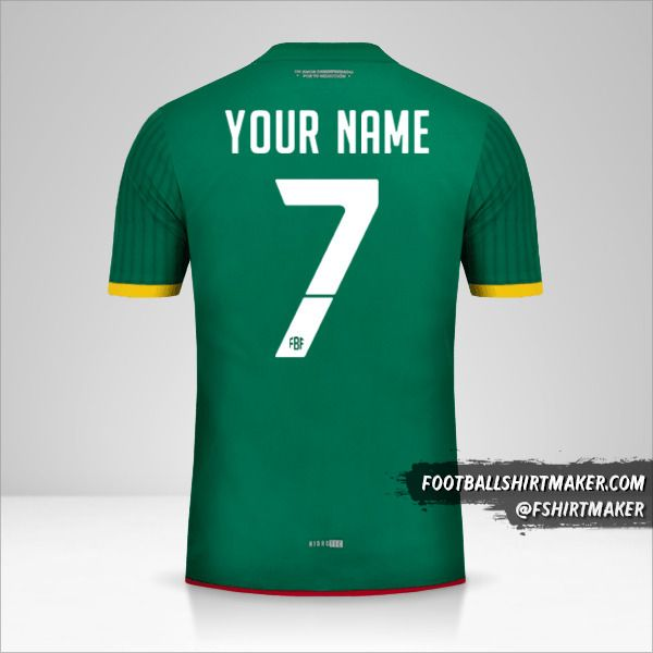 Bolivia jersey 2015 number 7 your name