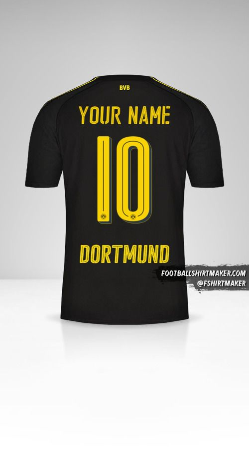 Borussia Dortmund 2016/17 II jersey number 10 your name