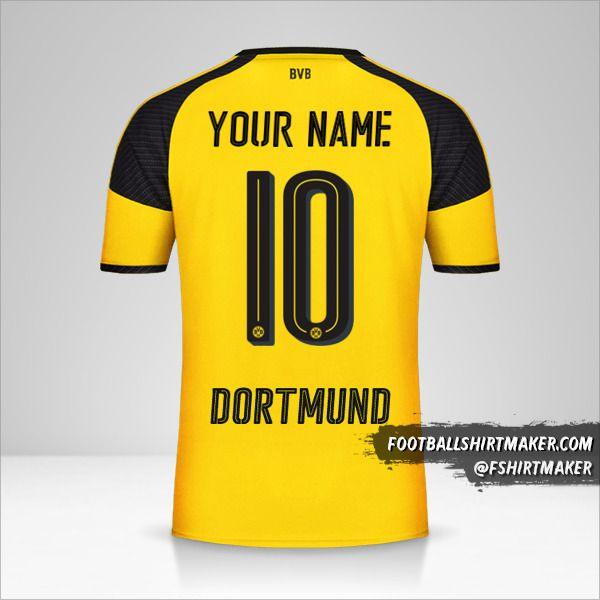 Borussia Dortmund 2016/17 Cup jersey number 10 your name